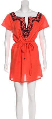 Milly Linen-Blend Mini Dress