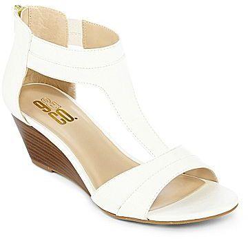 JCPenney 9 & Co.® Olympian Wedge Sandals