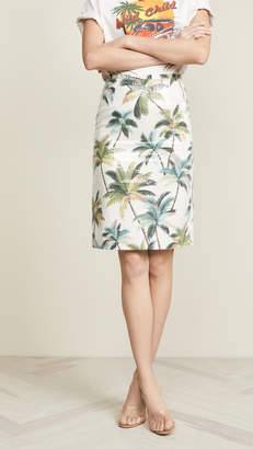 Le Superbe Hawaiian Shine Pencil Skirt