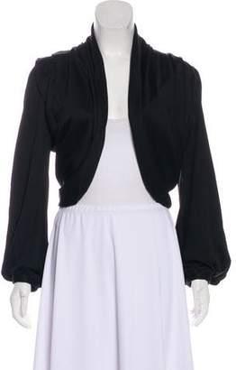 Balenciaga Open Front Long Sleeve Cardigan
