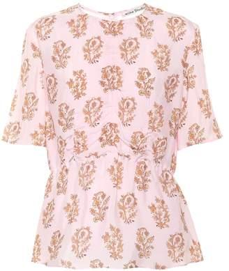 Acne Studios Taty floral-printed top