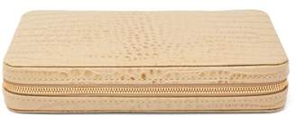 AERIN Enzo Leather Travel Domino Set - Gold