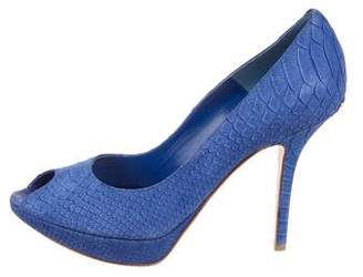Christian Dior Suede Embossed Pumps
