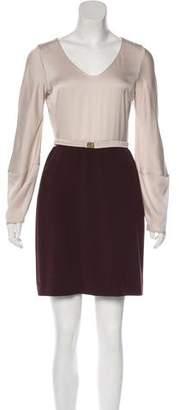 Diane von Furstenberg Colorblock Mini Dress