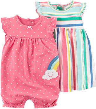 Carter's Cater's 2pc Creeper & Dress Set - Baby Girl