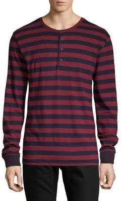 Lucky Brand Striped Long-Sleeve Henley