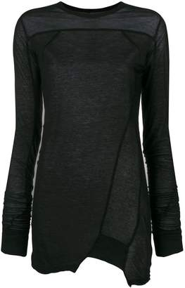 Rick Owens long sleeved oversized T-shirt