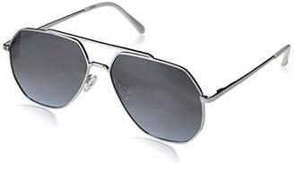 Rocawear Men's R1500 Slvwh Non-polarized Iridium Aviator Sunglasses