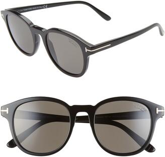 Tom Ford Jameson 52mm Polarized Round Sunglasses