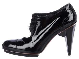 Lanvin Patent Leather Cutout Booties