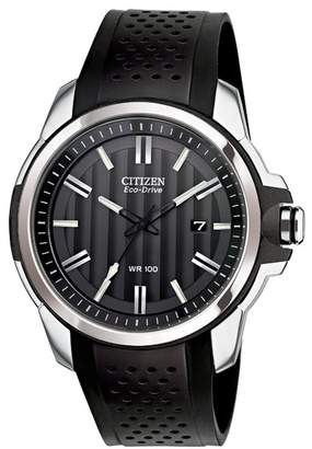 Citizen Men's AR Eco-Drive Perforated Strap Watch, 44.5mm