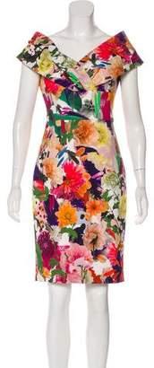 Cushnie et Ochs Sleeveless Floral Dress