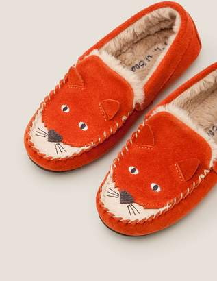 Suede Fox Slippers