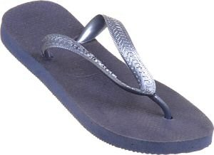 Havaianas Sandals - Top Metallic Navy Blue Rubber Thong