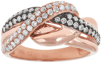 FINE JEWELRY LIMITED QUANTITIES 3/4 CT. T.W. White and Champagne Diamond 10K Rose Gold Crossover Ring