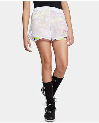 Nike Big Girls Layered Printed Shorts