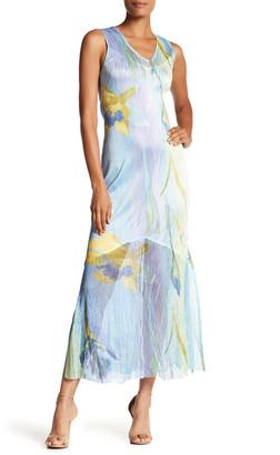 KOMAROV Sleeveless Printed Maxi Dress $184 thestylecure.com