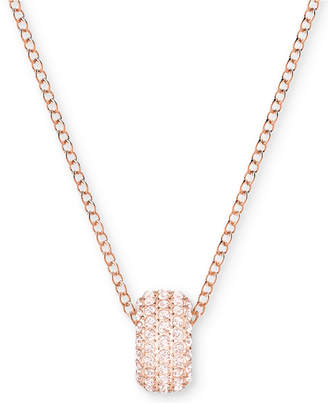 "Swarovski Rose Gold-Tone Crystal Ring 14-3/4"" Pendant Necklace"