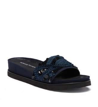 Donald J Pliner Cava Embellished Suede Slide Sandal