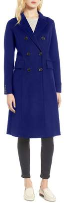 Tahari Taylor Double Breasted Wool Coat
