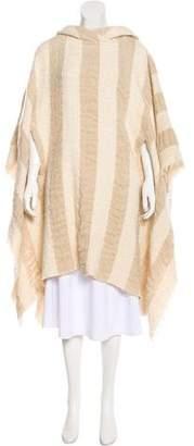 IRO Striped Hooded Poncho w/ Tags