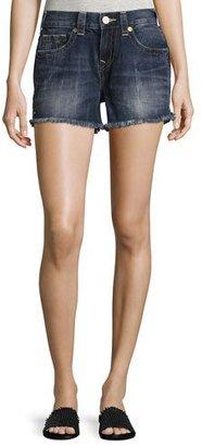 True Religion Kori Cutoff Boyfriend Shorts, Oceana Blue (Indigo) $159 thestylecure.com