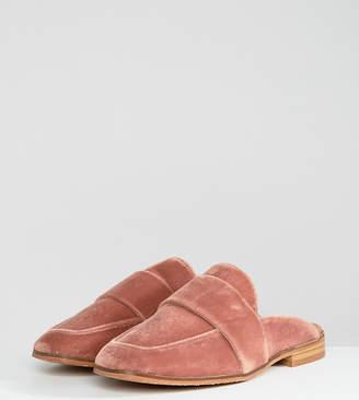 Free People At Ease Velvet Contrast Backless Loafer