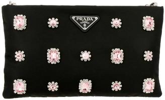 Prada Clutch Clutch Bag In Nylon With Strass And Precious Stones