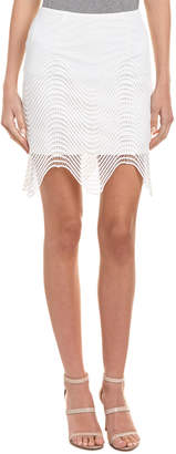 J.o.a. Mesh Pencil Skirt