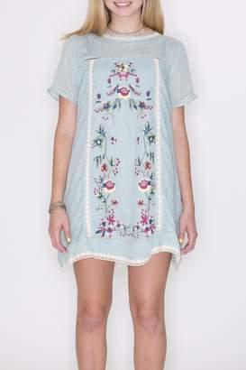Umgee USA Embroidered A Line Dress