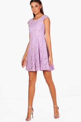 boohoo Tall Lace Skater Dress