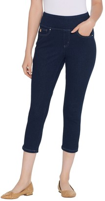 Belle By Kim Gravel Belle by Kim Gravel Flexibelle Cropped Jegging w/ Back Pockets