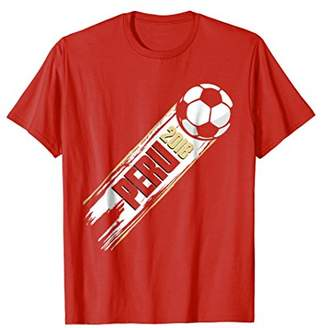 Peru Soccer Team Jersey Distressed T-Shirt Russia in 2018