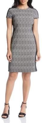 Karen Kane Euro Print Stretch Knit Dress