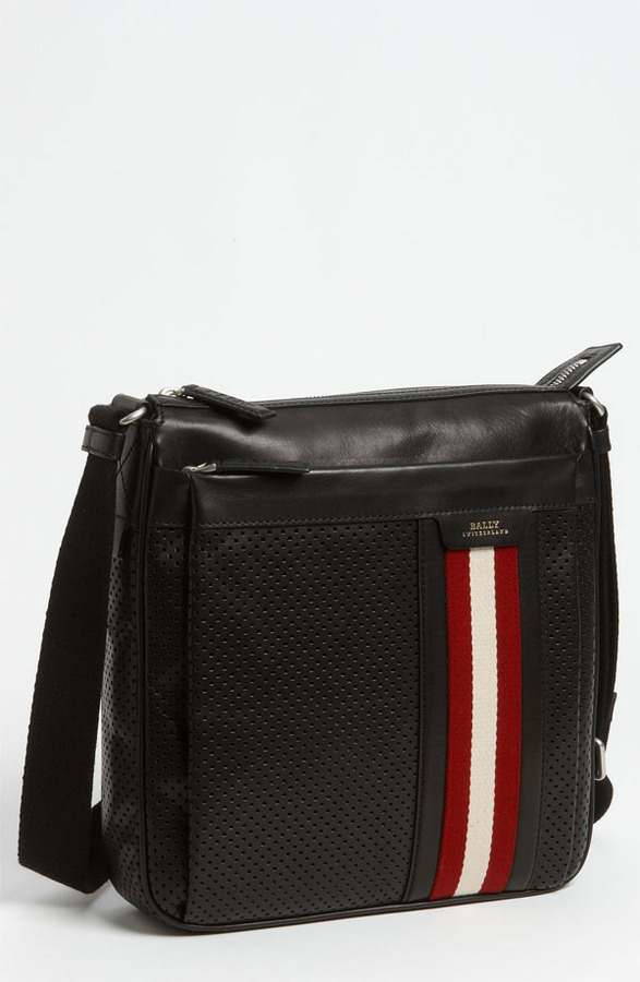 Bally Perforated Calfskin Messenger Bag