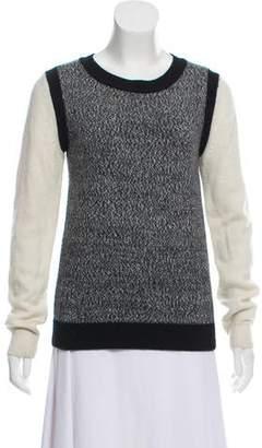Tibi Long Sleeve Knit Sweater