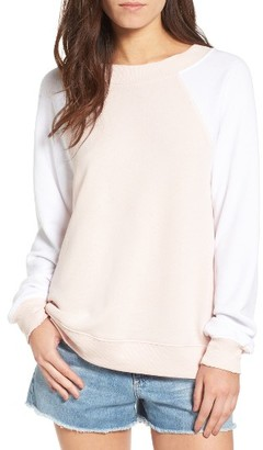 Women's Wildfox Destroyed Sommers Sweatshirt $108 thestylecure.com