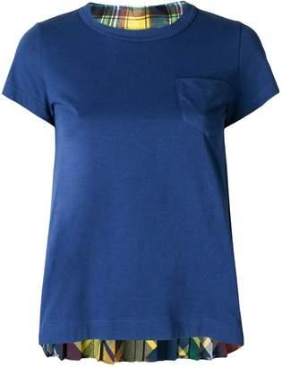 Sacai flared round neck T-shirt