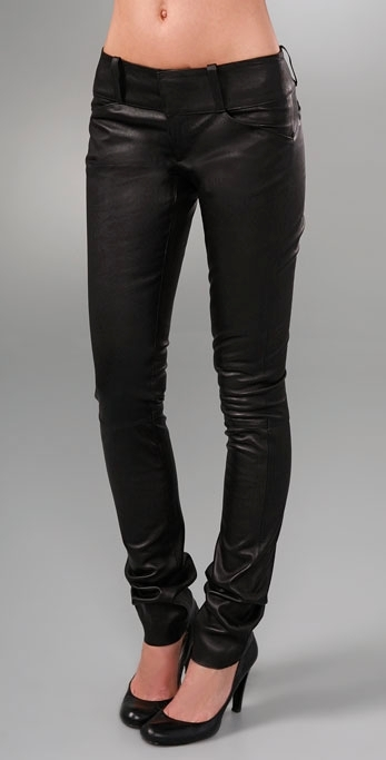Alice + Olivia Leather WWB Skinny Pant