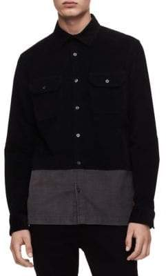 Calvin Klein Jeans Two-Tone Button-Down Shirt