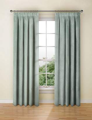 Marks and Spencer Chenille Damask Pencil Pleat Curtains
