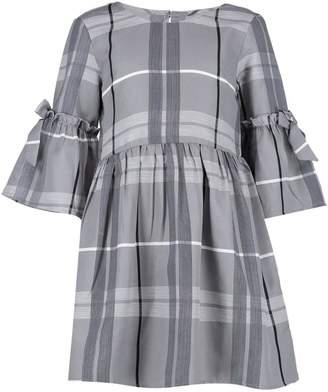boohoo Girls Tie Sleeve Smock Dress