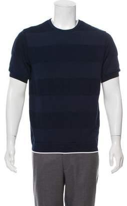TOMORROWLAND Striped Crew Neck T-Shirt