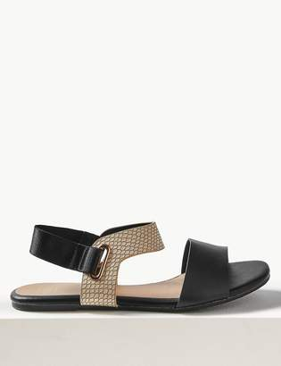 7eea0a36287 Black Elastic Sandals - ShopStyle UK