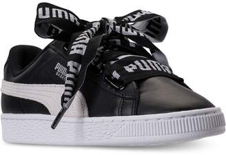 Puma Women's Basket Heart De Casual Sneakers from Finish Line $84.99 thestylecure.com