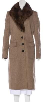 Rene Lezard Cashmere Fur-Trimmed Coat