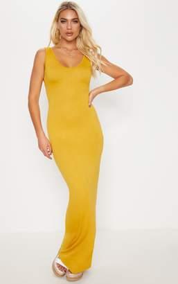 PrettyLittleThing Camel Basic Maxi Dress