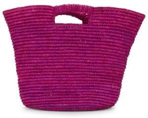 Straw Studios Open-Top Woven Basket Bag