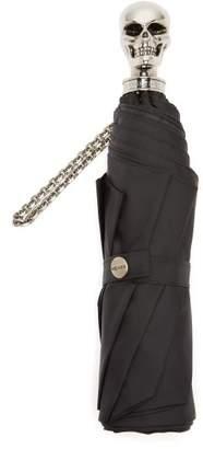 Alexander McQueen Skull Foldable Umbrella - Womens - Silver