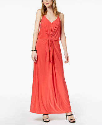 Bar III Tie-Waist Maxi Dress, Created for Macy's